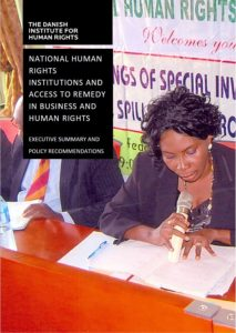 Report cover of 'National human rights institutions and access to remedy in business and human rights'