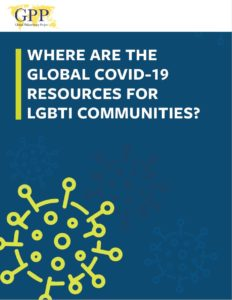 Report cover of 'Where are the global COVID-19 resources for LGBTI communities?'