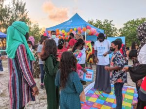 Participants of the Integrated Human Rights Program gather in activity workshop for children